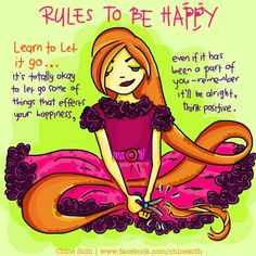 Rules to be Happy - Learn to Let it Go - Digital Art by Premalatha Sunderam in Illustrations knitted with love at touchtalent 52770