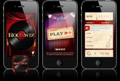 RocKwiz iPhone App Interface Design | Studio Alto was excited to work alongside Outware Mobile to develop the official iPhone app for one of Australia's best loved TV show, RocKwiz.