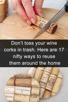 Share it. Gift it. Fun DIY craft projects for any time of the year. Feb Our favorite DIY projects Wine Craft, Wine Cork Crafts, Wine Bottle Crafts, Mason Jar Crafts, Mason Jar Diy, Crafts With Corks, Reuse Wine Bottles, Wine Cork Art, Wine Bottle Corks