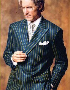 Mens Pinstripe Suit, Mens Suits, Designer Suits For Men, Winter Fashion Casual, Navy Gold, Navy Blue, Dapper Men, Wool Suit, Suit And Tie