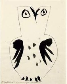 Chouette (Silkscreen print) by Pablo Picasso - art print from King & McGaw Kunst Picasso, Art Picasso, Picasso Drawing, Picasso Prints, Art And Illustration, Illustrations, Picasso Sketches, Cubist Movement, Georges Braque