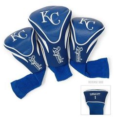 Kansas City Royals Contour Gollf Club HeadCover - 3 Pack
