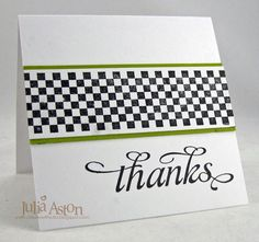 Create With Me: A simple thank you card made with Waltzingmouse Stamps - great for a guy into racing cars!
