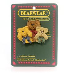 Boyds Bears Resin Blink Hush And Shush Pin
