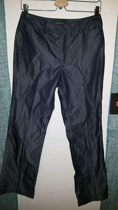 Banana Republic (Italy) Shiny Dress Pants Size 8 Black #BananaRepublic #DressPants $16.06 w/ free s/h