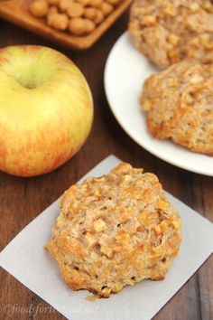 Caramel Apple Scones -- only 45 minutes to make! Soft, tender & just 160 calories!