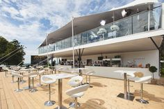 Premium #Hospitality #TemporaryStructure designed by The Halo Group for Goodwood Racecourse