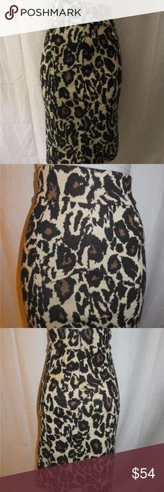 "EUC DIANE VON FURSTENBERG LEOPARD HIGH WAIST SZ 4 WOMENS  DIANE VONFURSTENBERG LEOPARD PRINT HIGH WAISTED PENCIL SKIRT 100% COTTON SIZE 4     FLAT FRONT - BACK ZIPPER CLOSURE     MATERIAL: 100% COTTON     MEASUREMENTS:​         WAIST: 13.5""         HIP: 18""         LENGTH:  27""     PRE-OWNED -IN EXCELLENT CONDITION....j_r325-2 Diane von Furstenberg Skirts Pencil"