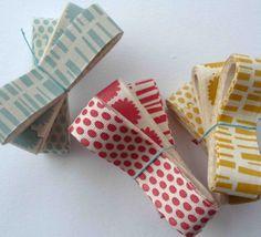 Silk screened ribbon (by pikku & angela liguori)