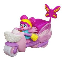 Playskool Sesame Street Abby Cadabby Scooter: Even flying fairies like exploring the neighborhood on a cute ride. With its colorful design and wings that flap, preschoolers will love zipping Abby Cadabby around on her sweet scooter. Toddler Toys, Baby Toys, Abby Cadabby, Play Centre, Lizzie Mcguire, Aesthetic Stickers, Baby Games, Infant Activities, Soft Grunge