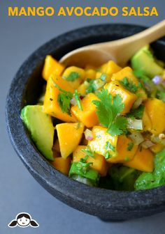 Mango and Avocado Salsa by Michelle Tam http://nomnompaleo.com