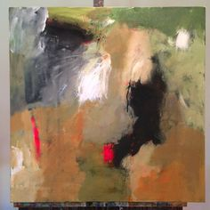 """abbycreekstudios:  Not off the easel yet but finished! """"What Matters the Most"""", 24"""" x 24"""" acrylic and ink on canvas by CONTEMPORARY ABSTRACT..."""