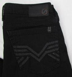 Men Buffalo Driven X Black Jeans Straight Leg Mid Rise sz 32 X 29 EUC…