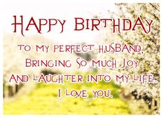 Happy birthday to my perfect husband greetingshare