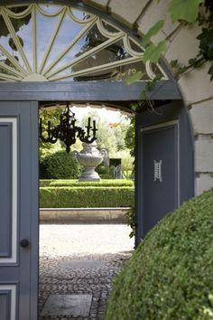 belgian garden entrance