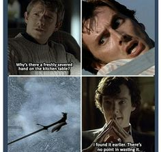 Sherlock gets a hold of the Doctor's hand. Somebody call Torchwood! XP