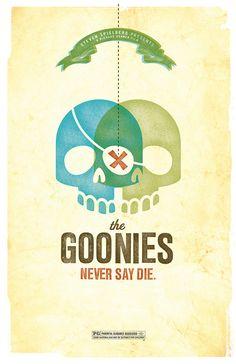Goonies Poster by Amy McAdams Design -> http://www.etsy.com/shop/AmyMcAdamsDesign