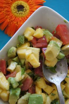 Marilou's Mango and Avocado Salad  -  This I could eat everyday all day if I had too.