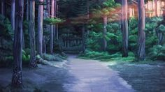 Evening road in the woods by arsenixc on DeviantArt Scenery Background, Cartoon Background, Video Background, Background Images, 2d Game Background, Episode Interactive Backgrounds, Episode Backgrounds, Anime Scenery Wallpaper, Wallpaper Backgrounds