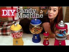 Diy Baleiro de Garrafa Pet e E.V.A - Faça você mesma sua Candy Machine - Tutorial Baleiro Retrô - YouTube