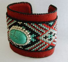 Turquoise Native American Pattern Bead by SimplyBeadedTreasure, $128.00