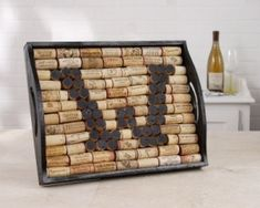 Wine cork serving tray - Great way to use your leftover wine corks by Diana Downey