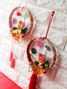 New Year's Crafts, Fun Diy Crafts, Crafts To Make, Arts And Crafts, Paper Crafts, Chinese New Year Flower, Japanese New Year, Chinese New Year Decorations, New Years Decorations