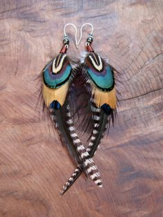 Unique Feather Earrings by LagoExoticJewelry on Etsy