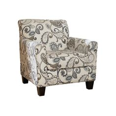 Yvette Chair ($40) ❤ liked on Polyvore featuring home, furniture, chairs, accent chairs, spinning chair, swivel chair, paisley chair and swivel furniture