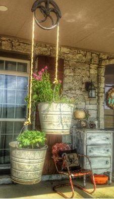Eclectic Home Tour - Living Vintage - Gartenprojekte - gardening Outdoor Projects, Garden Projects, Diy Projects, Backyard Projects, Diy Gardening, Container Gardening, Organic Gardening, Gardening Gloves, Bucket Gardening