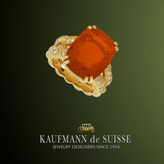 Flowing Lines Citrine Ring from Kaufmann de Suisse Jewelers in Palm Beach. Palm Beach Florida, Diamond Rings, Diamond Jewelry, Gemstone Rings, Jewelry Showcases, Citrine Ring, Custom Jewelry Design, Heart Ring, Jewelery