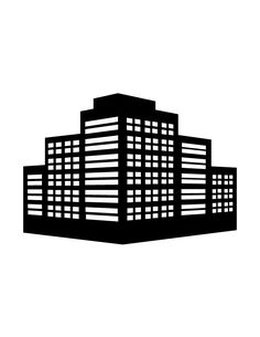 Buildings Silhouette 90 | H & M Coloring Pages