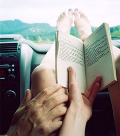 Summer + road trips = lots of reading time!