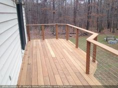 New deck with a cable rail system
