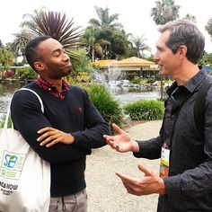 Prince Ea and our founder, Scott Hamlin having a moment at #SB15sd