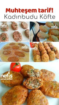 How to make Kadınbudu Meatball Recipe? Appetizer Recipes, Appetizers, Turkish Recipes, Ethnic Recipes, Turkish Kitchen, Food Vocabulary, Wie Macht Man, Albondigas, Iftar