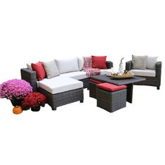Carson 9 Piece Seating Group with Cushions