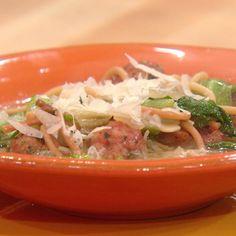 Mini Meatball Soup with Broken Spaghetti and Escarole