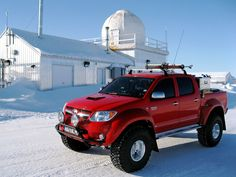 Toyota Hilux Invincible AT38 truck that BBC TopGear took to the Arctic with Icelandic engineers