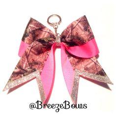 Mossy Oak / Camo Pink Keychain Bow by BreezeBows on Etsy, $6.00