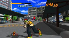 Jet Set Radio on Steam // or Jet Grind Radio. Sega thought NA wouldn't respond properly to the word Set in 2000? But yeah, bought a 12 year old game to slurp up the nostalgia! - pixypi