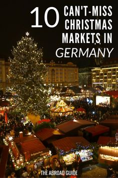 Top Christmas Markets in Germany- These are the Christmas Markets you should definitely visit while in Germany during November and December. Try mulled wine, other winter-themed German treats, and shop for handmade gifts and souvenirs at these top German Christmas markets. Get to each market with @eurail .