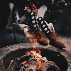 staying warm on november nights ☕️