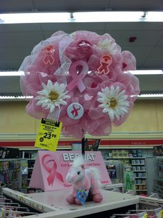 Breast Cancer Deco Wreath