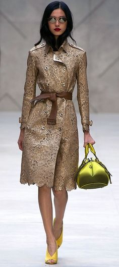 Burberry Prorsum Spring/Summer 2013- once again I ask the question, are asian women born with this look or do they practice it?