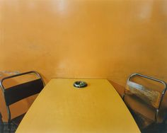Ashtray on Table, Morley's Cafe, Markham Moor, Nottinghamshire from portfolio The Great North Road, February 1981 © 2012 Paul Graham Paul Graham, Great North, Little Miss Sunshine, William Eggleston, Yellow Submarine, Happy Colors, Mellow Yellow, Limoncello, My Favorite Color