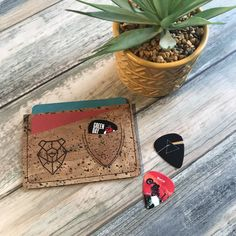 credit cards holder Cork Slim line Credit Card Holder with Pick pocket//Wallet//Small Wallet//Front Pocket Wallet// Credit Card Wallet, Credit Cards, Vegan Wallet, Guitar Pics, Front Pocket Wallet, Small Wallet, Cool Stuff, Leather Wallet, Birthday Gifts