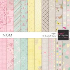 Mom Papers Kit by Collaborations | Pixel Scrapper digital scrapbooking