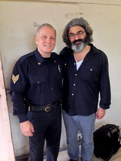 On set at the historic Williamson County (TX) Jail as a police officer with actor Onur Turkel on the set of the forthcoming film (currently titled), East Texas Trials Williamson County, Actor Model, Police Officer, On Set, Trials, Candid, Chef Jackets, Actors, Film