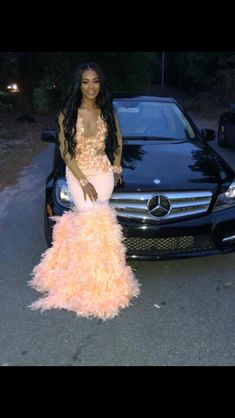 Boho Prom Dresses, 2020 Long Sleeve V-neck Mermaid Pink Prom Dresses, you be the star of your own prom by offering you hundreds of options for your perfect 2020 prom dress! Black Girl Prom Dresses, Senior Prom Dresses, Cute Prom Dresses, Prom Outfits, Plus Size Prom Dresses, Mermaid Prom Dresses, Dresses Dresses, Bridal Dresses, Prom Looks